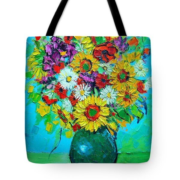 Sunflowers And Daises Tote Bag by Ana Maria Edulescu