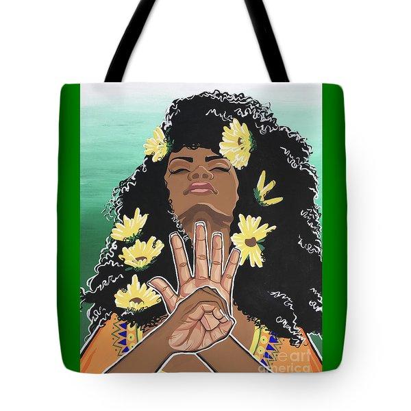 Sunflowers And Dashiki Tote Bag