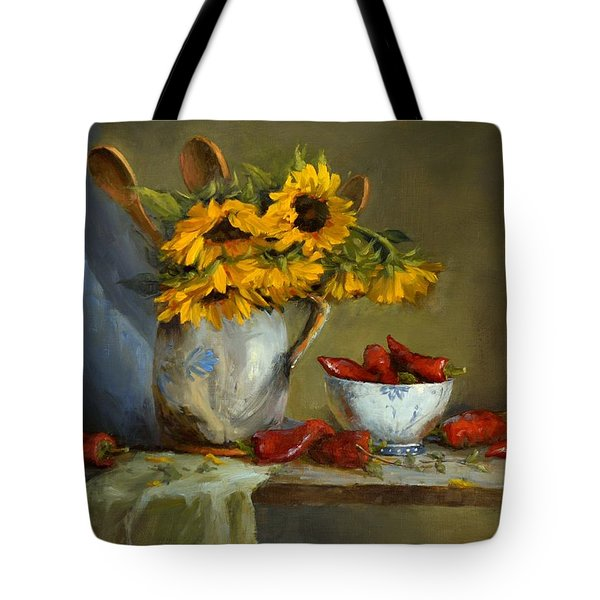 Sunflowers And Paprika Tote Bag