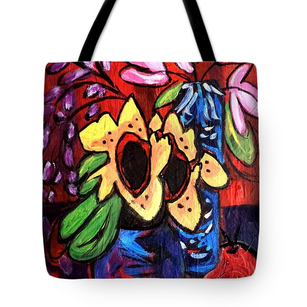 Sunflowers And Tulips Tote Bag
