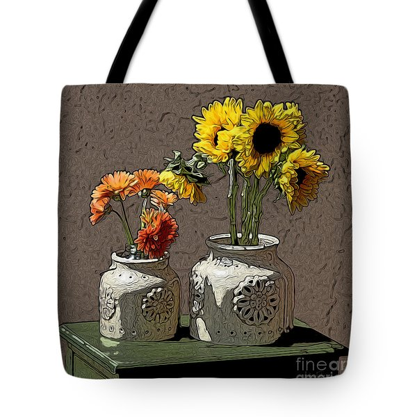 Sunflowers Tote Bag by Anthony Forster