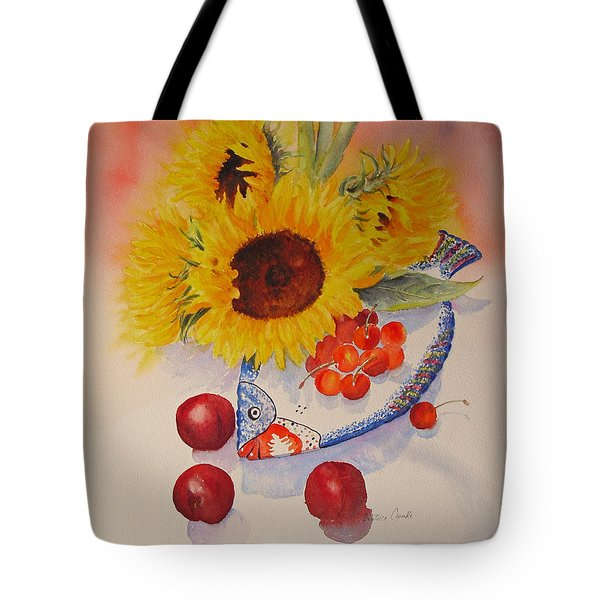 Tote Bag featuring the painting Sunflowers by Beatrice Cloake