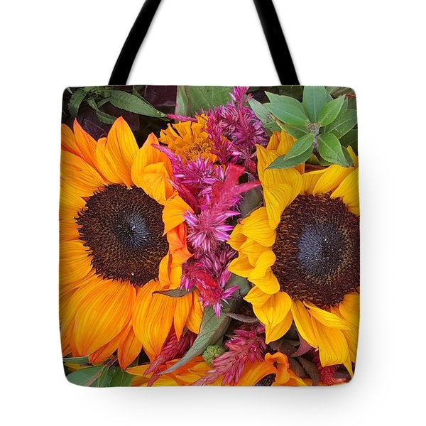 Sunflowers Eyes Tote Bag by Jasna Gopic