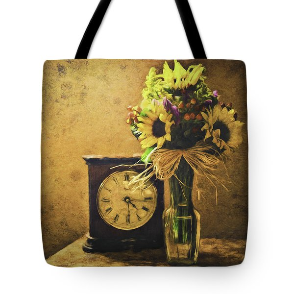 Sunflowers Floral Still Life 3 Tote Bag
