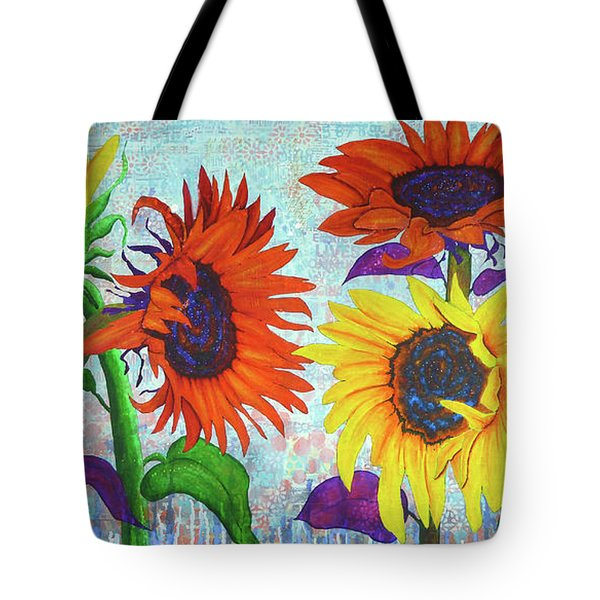 Sunflowers For Elise Tote Bag