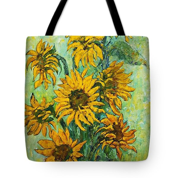 Sunflowers For This Summer Tote Bag