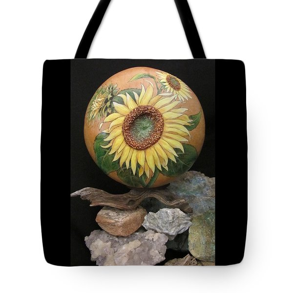 Sunflowers Gn41 Tote Bag by Barbara Prestridge