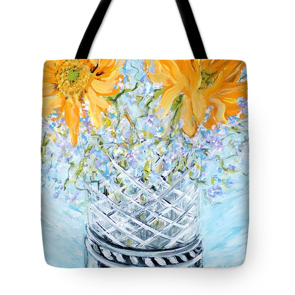 Sunflowers In A Vase. Painting Tote Bag