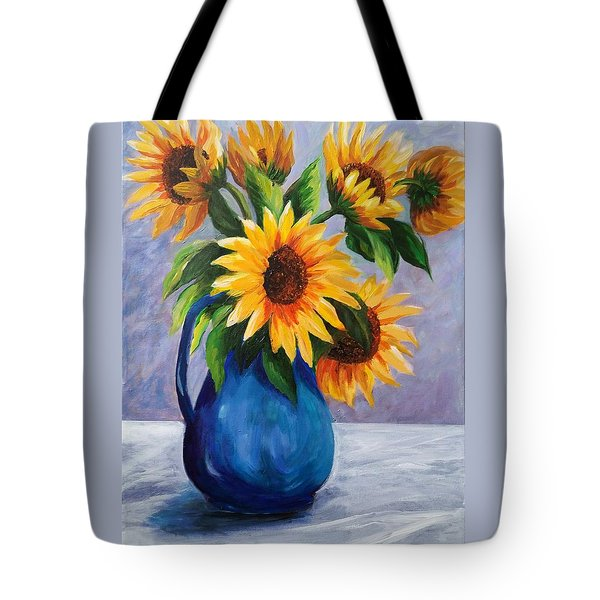 Sunflowers In Bloom Tote Bag
