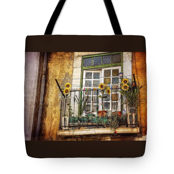 Sunflowers In The City Tote Bag by Carol Japp