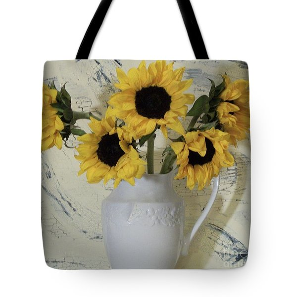 Sunflowers In The Country Tote Bag by Marsha Heiken