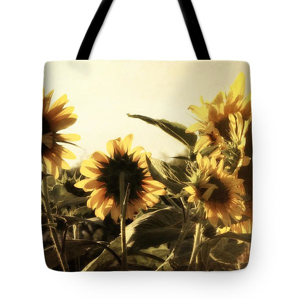 Sunflowers In Tone Tote Bag