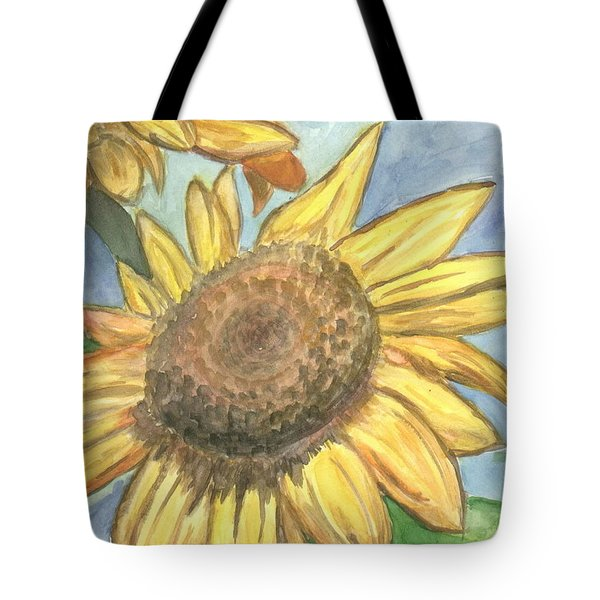 Tote Bag featuring the painting Sunflowers by Jacqueline Athmann