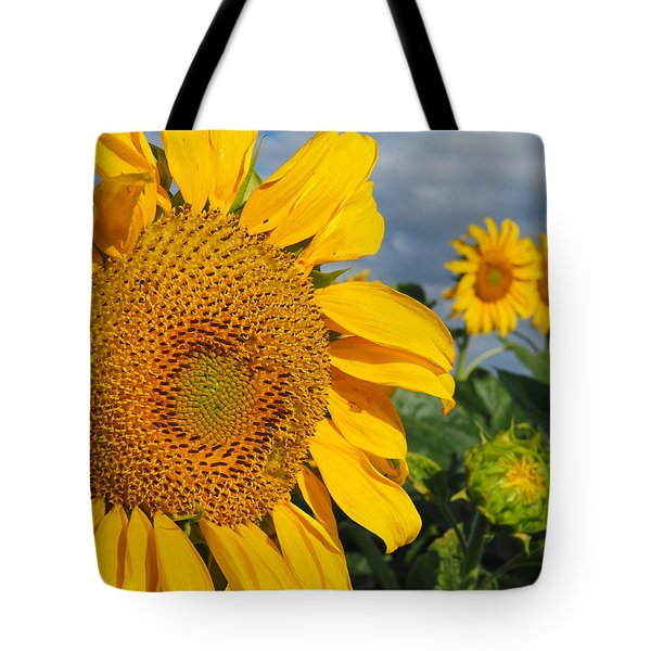 Tote Bag featuring the photograph Sunflowers by James Peterson
