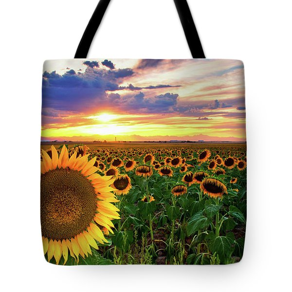 Sunflowers Of Golden Hour Tote Bag