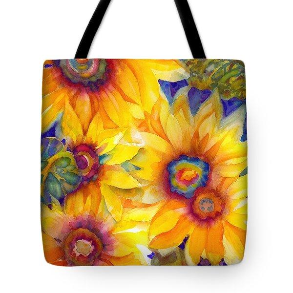 Sunflowers On Blue II Tote Bag