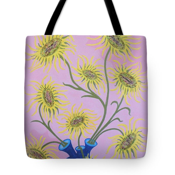 Sunflowers On Pink Tote Bag