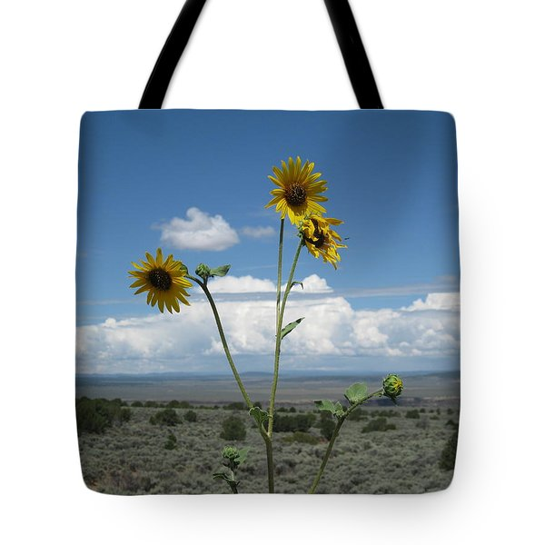 Sunflowers On The Gorge Tote Bag