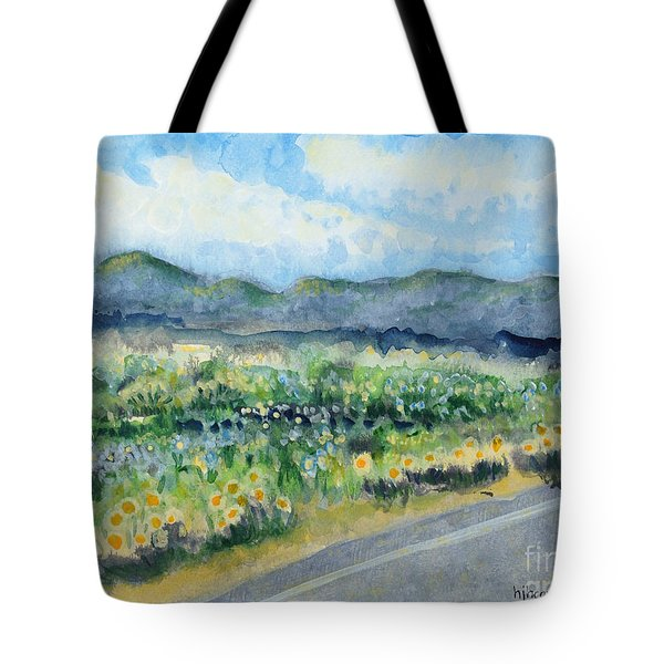 Sunflowers On The Way To The Great Sand Dunes Tote Bag by Holly Carmichael