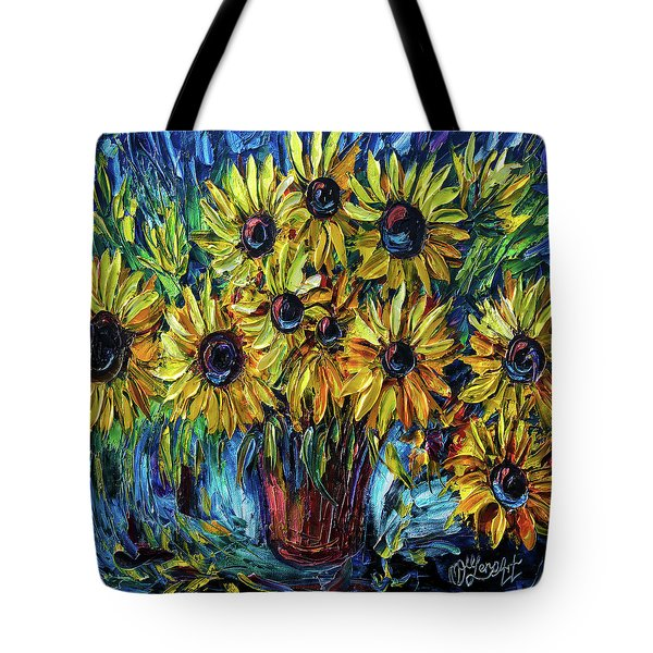 Sunflowers  Palette Knife Tote Bag