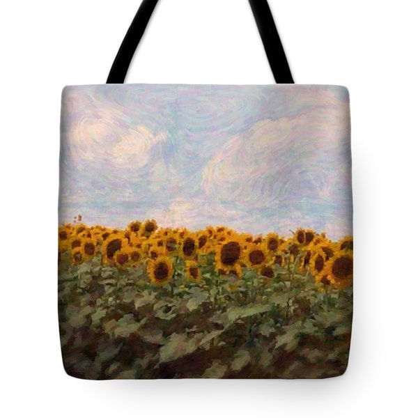 Sunflowers Tote Bag by Robin Regan