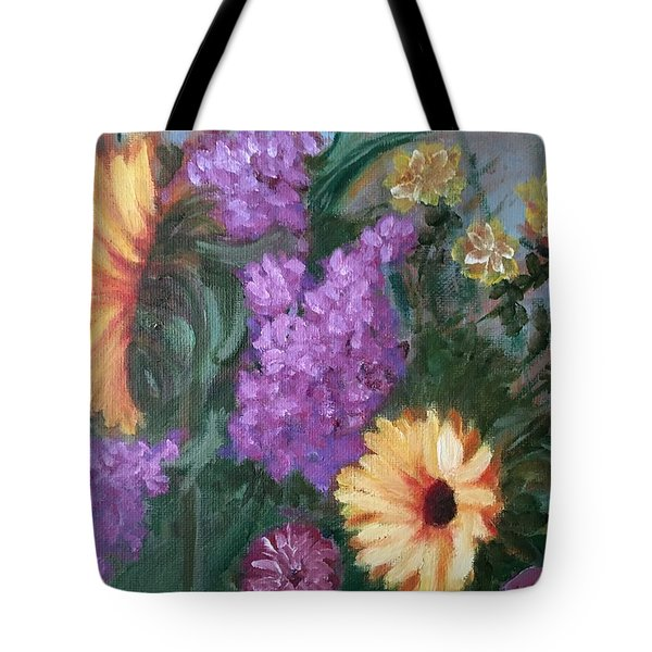 Sunflowers Tote Bag by Sharon Schultz