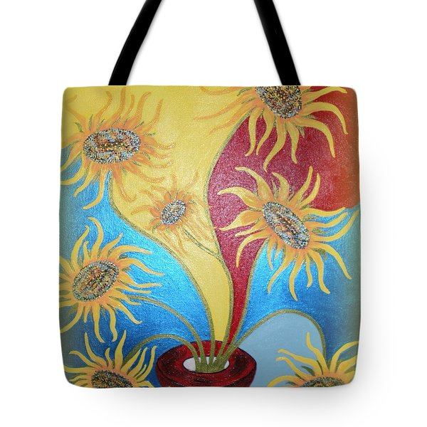 Sunflowers Symphony Tote Bag