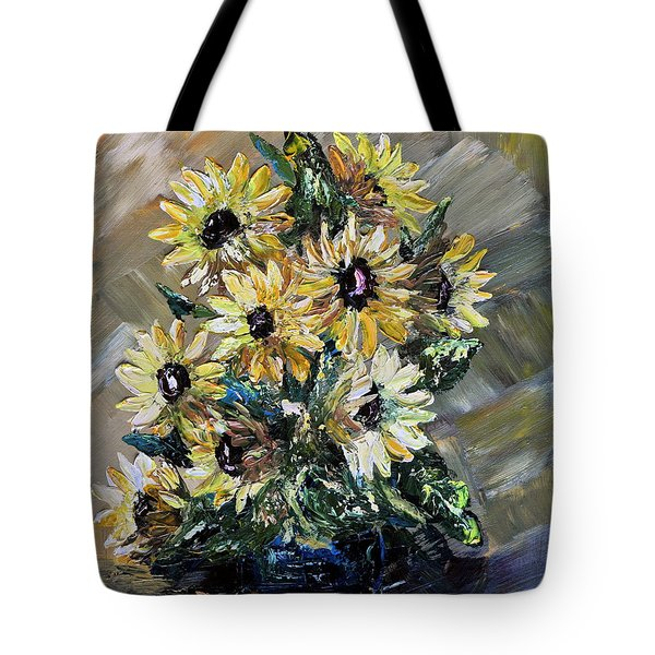 Sunflowers Tote Bag by Teresa Wegrzyn