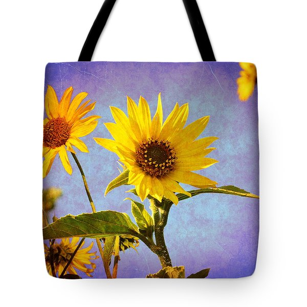 Tote Bag featuring the photograph Sunflowers - The Arrival by Glenn McCarthy Art and Photography