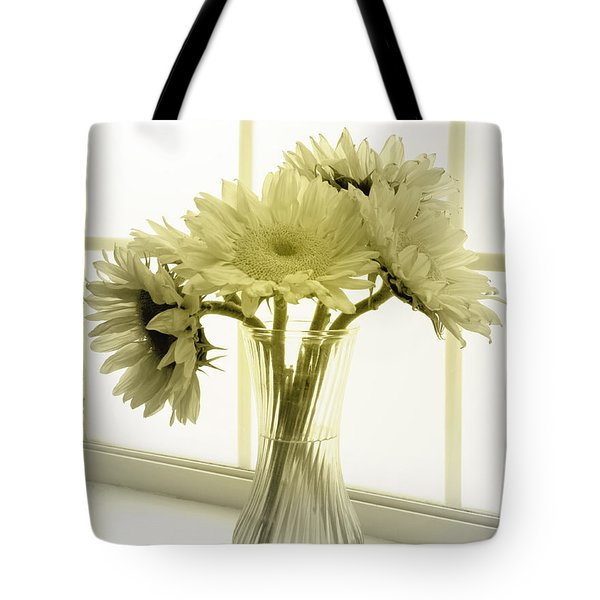 Tote Bag featuring the photograph Sunflowers by Todd Blanchard