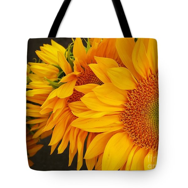 Sunflowers Train Tote Bag by Jasna Gopic