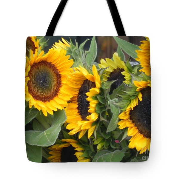 Tote Bag featuring the photograph Sunflowers Two by Chrisann Ellis