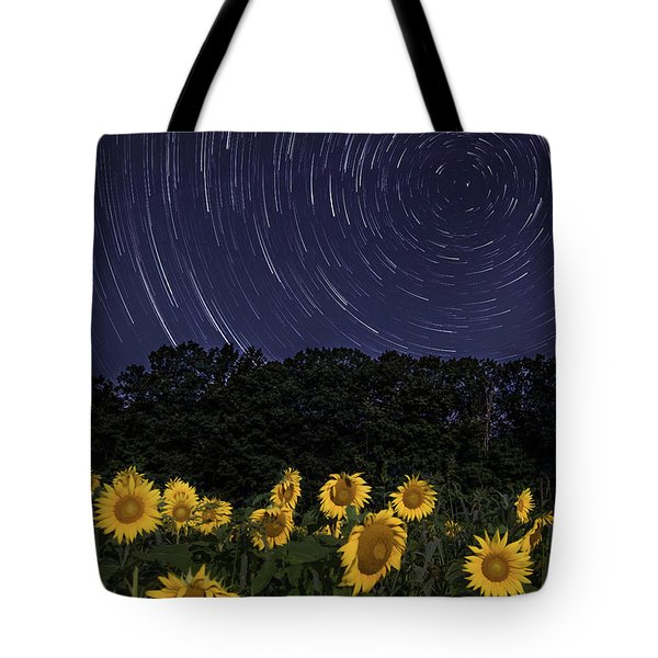 Sunflowers Under The Night Sky Tote Bag