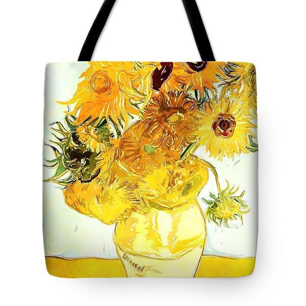 Sunflowers Van Gogh Tote Bag