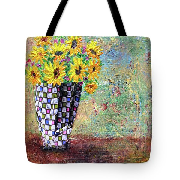 Sunflowers Warmth Tote Bag by Haleh Mahbod