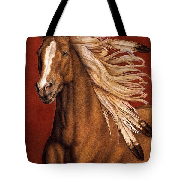 Tote Bag featuring the painting Sunhorse by Pat Erickson