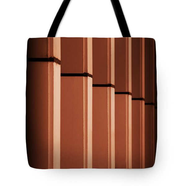 Tote Bag featuring the photograph Sunkissed Pillars by Baggieoldboy