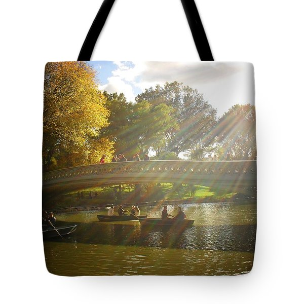 Sunlight And Boats - Central Park -  New York City Tote Bag by Vivienne Gucwa