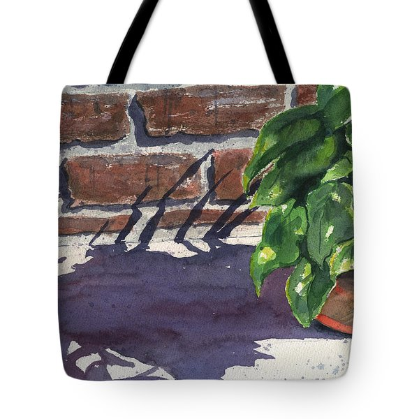 Sunlight And Shadows Tote Bag by Marsha Elliott