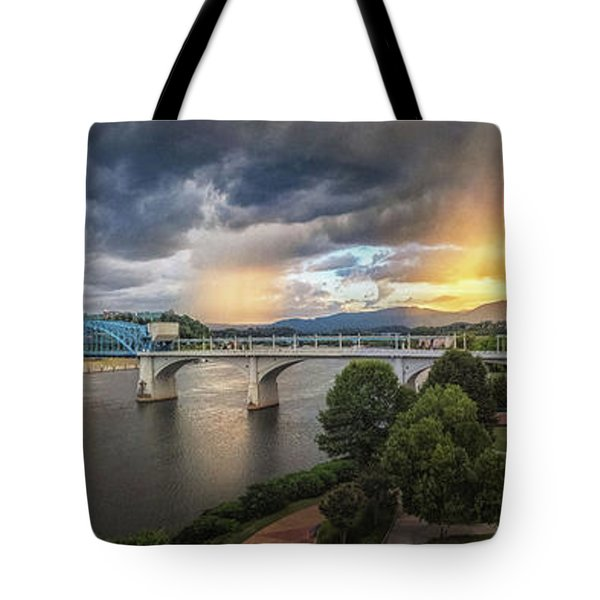 Sunlight And Showers Over Chattanooga Tote Bag
