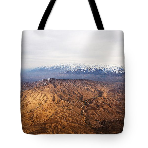 Sunlight And Snow-capped Peaks Tote Bag
