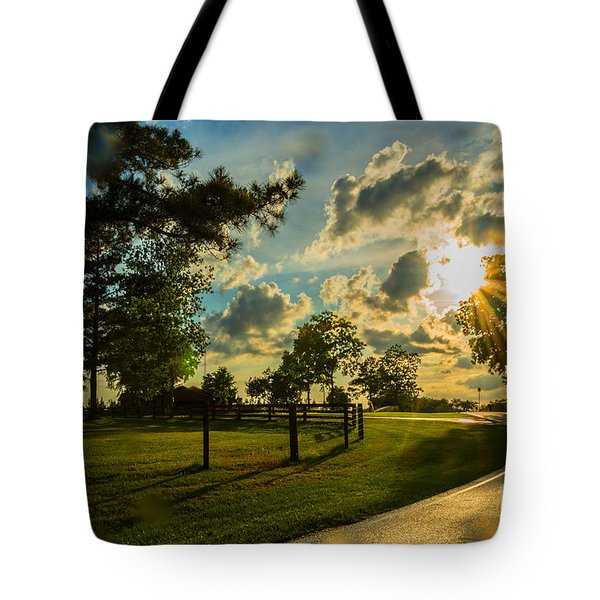 Sunlight Around The Corner Tote Bag