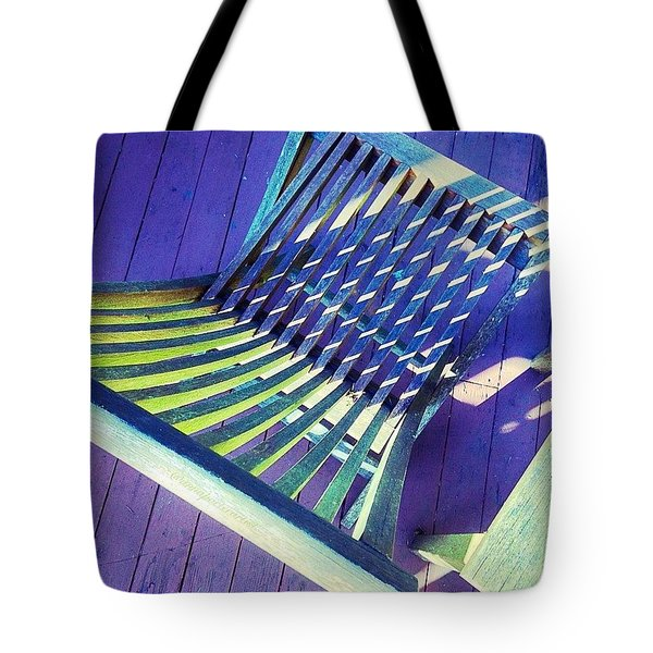 Sunlight On My Deck Chair, Color Study Tote Bag