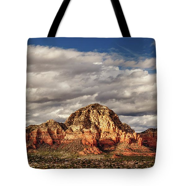Sunlight On Sedona Tote Bag by James Eddy