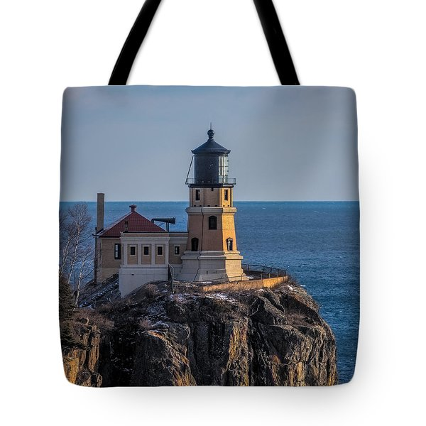 Sunlight On Split Rock Lighthouse Tote Bag