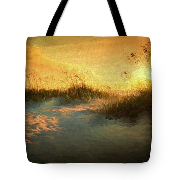 Sunlight On The Dunes Tote Bag