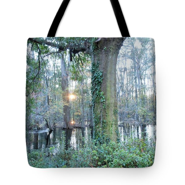 Sunlight On The Edisto River Tote Bag by Kay Gilley