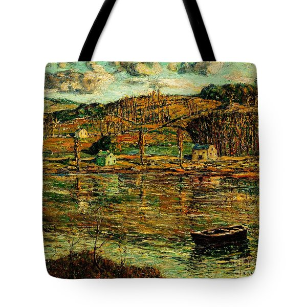 Sunlight On The Harlem River 1919 Tote Bag