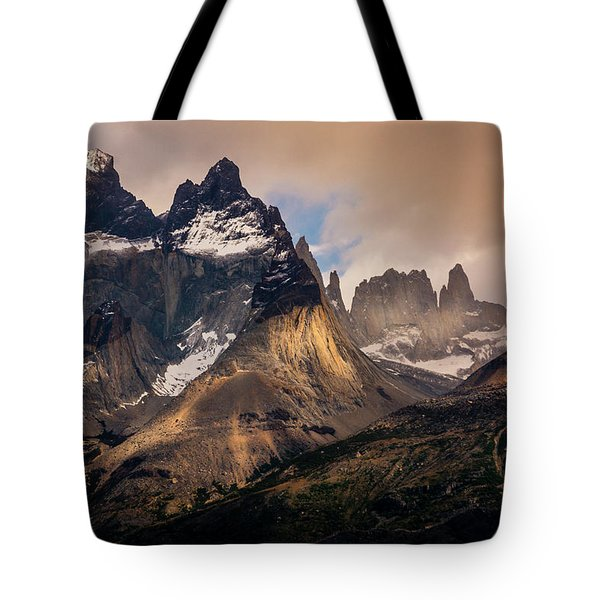 Tote Bag featuring the photograph Sunlight On The Mountain by Andrew Matwijec