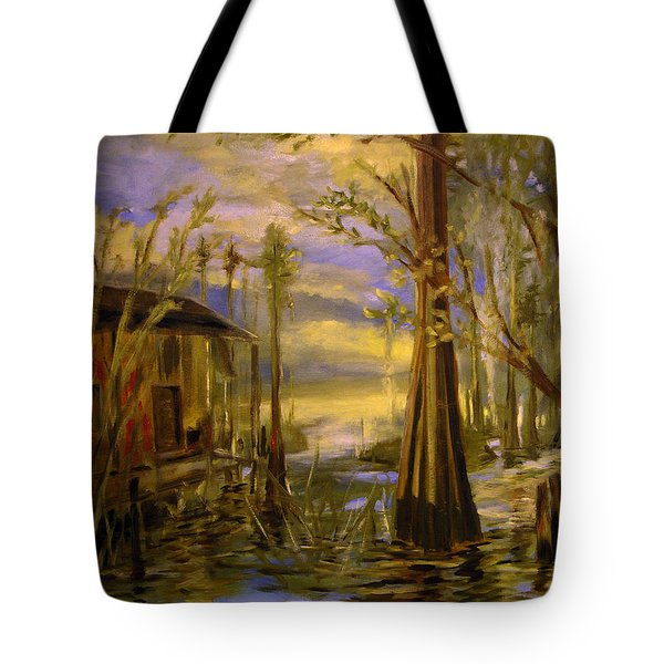 Sunlight On The Swamp Tote Bag